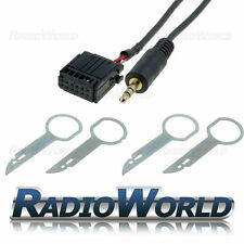 Ford Focus Mondeo Fiesta 6000CD Aux IN Adaptador Cable iPod + Plomo MP3 retiro llaves