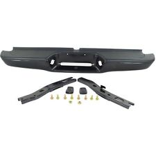 Step Bumper For 95-04 Toyota Tacoma Black Steel w/ brackets/pads Fleet Styleside