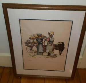 Norman Rockwell Country Pedlar Lithograph Signed Limited Ed. 289/300 w/ COA