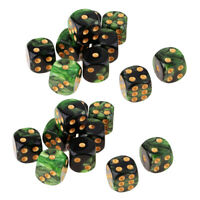 20Pcs Six Sided Dice Dotted Board Game Die D6 for   Game