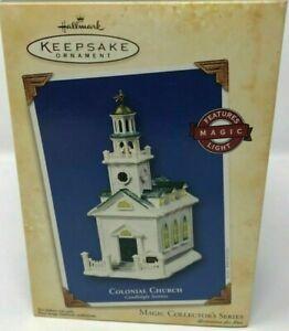 Colonial Church Candlelight Services #7 Hallmark Keepsake Magic Ornament 2004