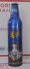 Beer Bud Light Chicago Blackhawks Stanley Cup Champions Aluminum Empty Bottle