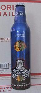 Beer Bud Light Chicago Blackhawks Stanley Cup Champions Aluminum Empty Bottle