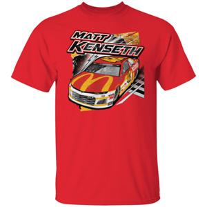 Men's Matt Kenseth Backstretch Driver 2021 Short Sleeve Red T-Shirt S-5XL