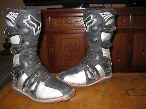 Fox Racing Forma Pro Jr Boots Youth Kids 4 Black Gray MX Motocross