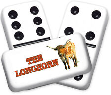 Americana Series Longhorn Design Double six Professional size Dominoes