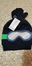 NEW CARTERS BABY BOYS SKI GOGGLES HAT & MITTEN SET 12-24M w/ TAGS