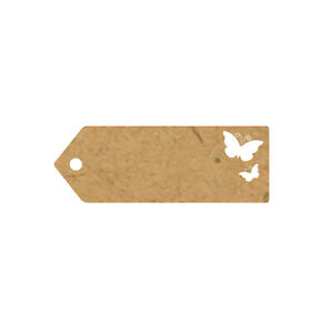 Eleganza Greeting Tags 10 Pack Natural Card - Various Designs & Sizes