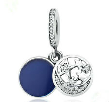 NEW Star Moon European CZ Charm Crystal Spacer Beads Fit Necklace Bracelet