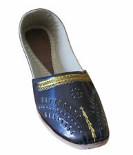 Men Shoes Indian Handmade Leather Loafers & Slip Ons Black Punjabi Jutties US 8