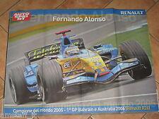 # POSTER FERNANDO ALONSO RENAULT R26 F.1 CAMPIONE DEL MONDO 2005 CM.70X54 AC15
