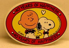 Charlie Brown & Snoopy 40 Years of Happiness Pin