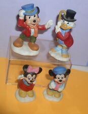 Uncle Scrooge Tiny Tim Bob Cratcht Schmid 4 porcelain figurines