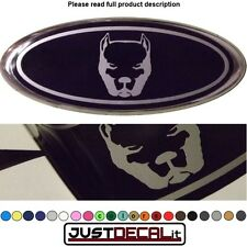 5x2 Pitbull overlay decal sticker logo pit bull dog Fits specific ford emblems