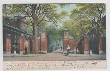Vintage Postcard 1906 Cambridge MA Johnston Gate Harvard Undivided Back
