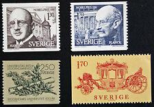 Timbre SUÈDE / Stamp SWEDEN Yvert et Tellier n°1033-1034-1004-1020 n** (cyn9)