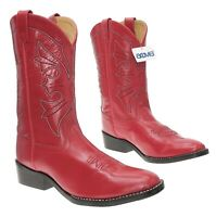 NEW ACME Cowboy Boots 5 D Youth Red WESTERN Leather Roper Boots Motorcycle Biker