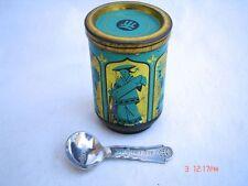Alte Blechdose Messmer Tee Teedose mit Löffel