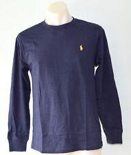 Ralph Lauren Boys Long Sleeve T Shirt- BLUE- SIZES - 2,3,5 & 14-16 - NEW