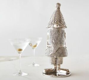 Pottery Barn Gnome Shaped Metal Cocktail Shaker