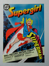 1988 DC Comics ROLLED promo poster of Supergirl:Superman/Legion/JLA/Super-Heroes