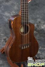 New Kala KA-SMHCE-C Solid Mahogany Concert Ukulele with Cutaway & Pickup