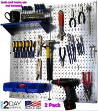 Metal Peg Board Organizer Rack Wall Control Garage Storage Galvanized Steel Tool