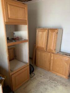 Huge Bundle Kitchen Base & Wall Units Solid Wood Doors Farmhouse Style Winchmore