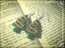 ** Christmas Tree Earrings - hand made stocking filler **