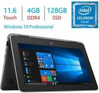 NEW HP ProBook x360 11.6 inch 2 in 1 Touchscreen N4100 4GB 128GB SSD Win 10 Pro