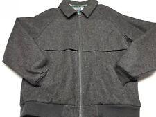 Vintage Pendleton Plaid Lined Wool Bomber Jacket Coat Mens L ~ Gray ~ USA Made