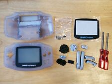 Gameboy Advance Glacier Frost Frosted Clear Original Shell Button 001 Screen OEM