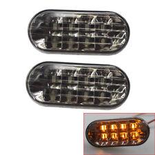 Pair of Yellow Light Side Marker Lamp LED Fit For VW Jetta Golf 99-04 Smoke Lens