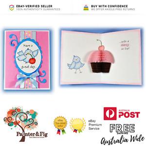 Happy Birthday Stamps, Bird, Cupcake,Cherry on Top, Honeycomb Paper, Inky Antics