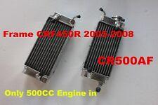 "CUSTOM-MADE RADIATOR HONDA CR500AF;FRAME CRF450R 2005-2008 WITH ""CR500R ENGINE"""
