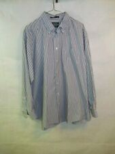 Nautica Button Front Shirt Size 34/35 Wrinkle Free Long Sleeve Cotton Formal