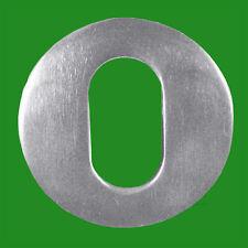 50mm Round Oval Escutcheon SAA Satin Anodised Aluminium Keyhole