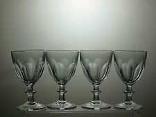 STUNNING CUT GLASS LEAD CRYSTAL SHERRY GLASSES SET OF 4