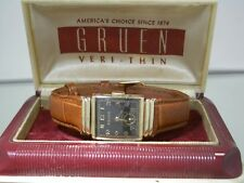 Vintage art deco Gruen Precision Veri-Thin Herrenarmbanduhr  Hairline Dial + BOX