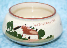 "Old Motto ware Watcombe Torquay Pottery Dish ""Help Yourself to sugar - Weymouth"""
