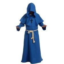 Vintage Friar Medieval Robe Hooded Monk Cowl Renaisance Priest Cosplay Costume