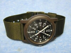 Men's TIMEX Water Resistant Military Watch w/ New Battery