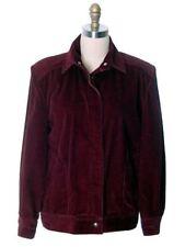 Calvin Klein VTG  Bomber Jacket  Womens Burgundy Corduroy  1980s M