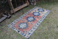 """Vintage Handmade Turkish Oushak Area Rug 6'4""""x2'10"""""""