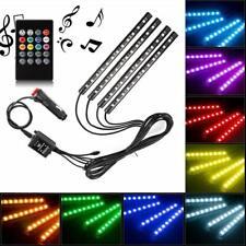 4X 48 LED Car SUV Interior Decor Neon Atmosphere Light Strip Music Control Color