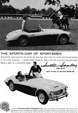 BMC Austin Healey 100 Six BLIND BROOK POLO CLUB Purchase NY 1959 Print Ad