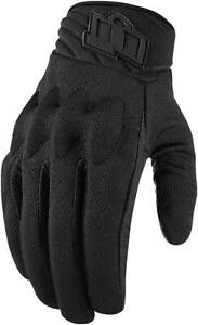 Icon Anthem 2 Stealth CE Gloves - Motorcycle Street Riding Textile Touch Screen