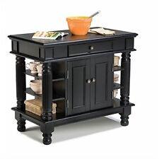 Home Styles 5092-94 Americana Kitchen Island Black Finish Categories, New