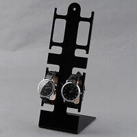 Uhrenständer 4 Schlitze und transparenter Schmuckständer aus Kunststoff