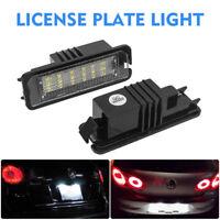 Pair LED Number License Plate Light Lamp For VW GOLF MK4 MK5 MK6 Seat Error Free